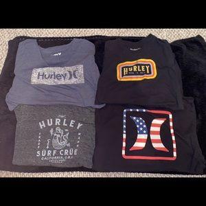 4 Shirt Hurley Lot Size XL